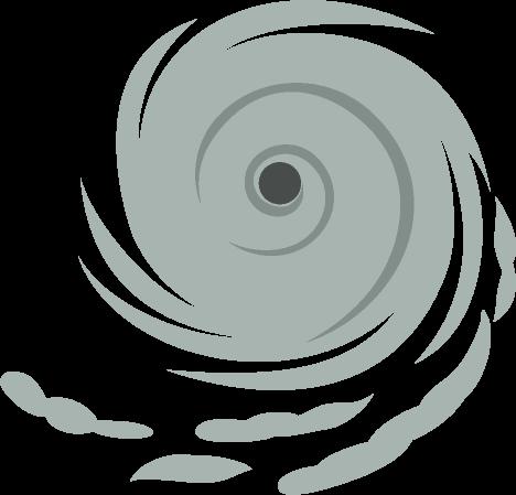 台風の目のイラスト