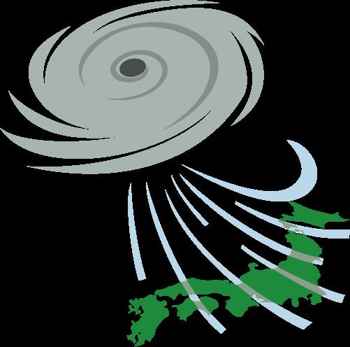 大型台風のイラスト