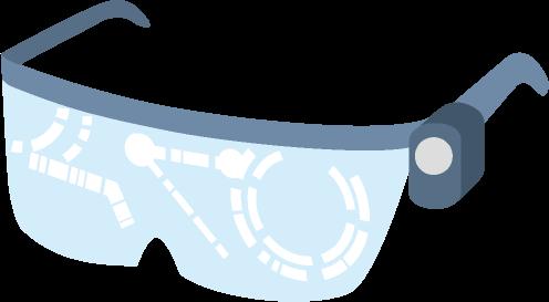 スマートグラスのイラスト